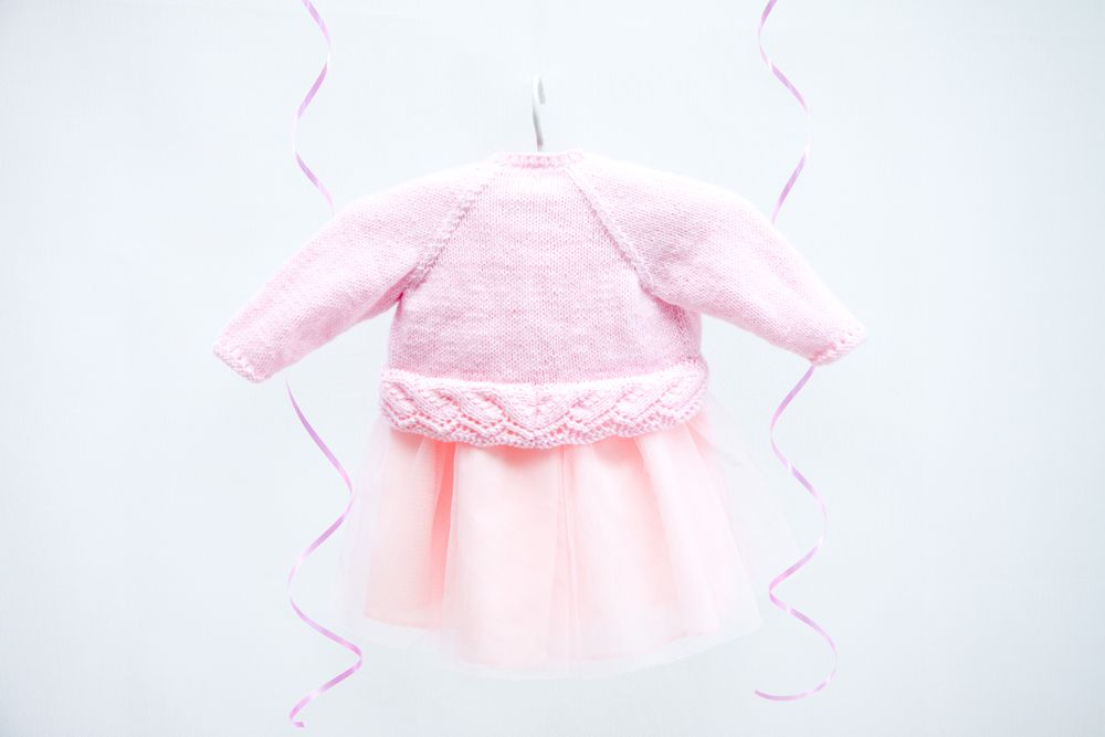 Dyp109 Dyc Choice Baby Joy Dk Bolero Cardigan Knitting Pattern